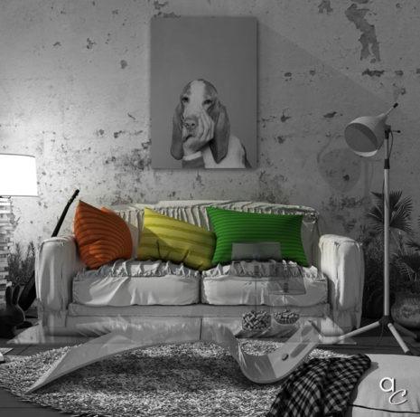Scène 3D_Thème : «Ouaf Salon» (Modèle Sketchup + Render Artlantis 2019)