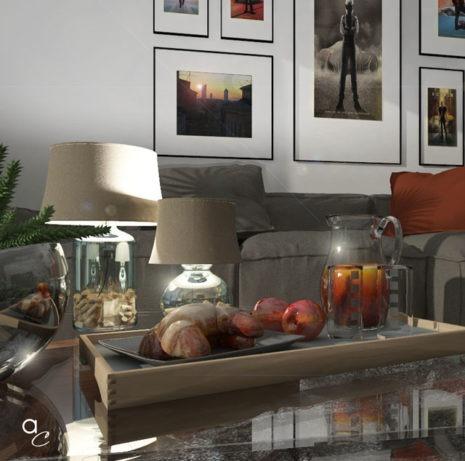 Scène 3D_Thème : «Détente salon_Breakfast» (Modèle Sketchup + Render Artlantis 2019)
