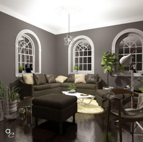 Scène 3D_Thème : «Détente salon nuit» (Modèle Sketchup + Render Artlantis 2019)
