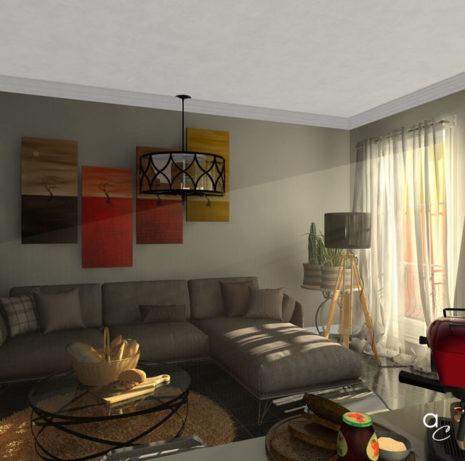 Scène 3D_Thème : «Détente salon» (Modèle Sketchup + Render Artlantis 2019)