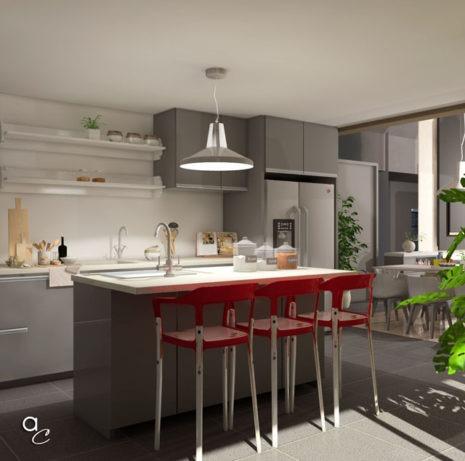 Scène 3D_Thème : «Détente Cuisine» (Modèle Sketchup + Render Artlantis 2019)