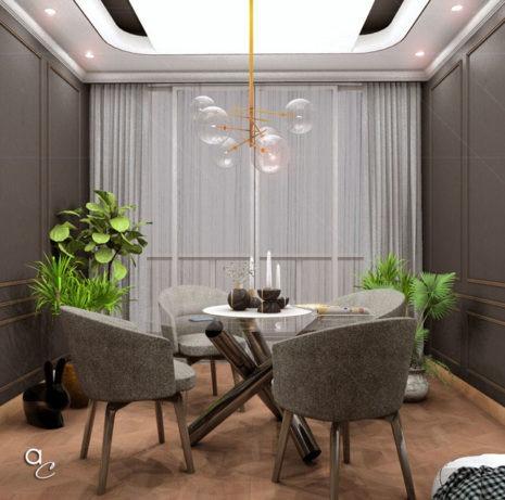 Scène 3D_Thème : «Détente Salle à Manger» (Modèle Sketchup + Render Artlantis 2019)