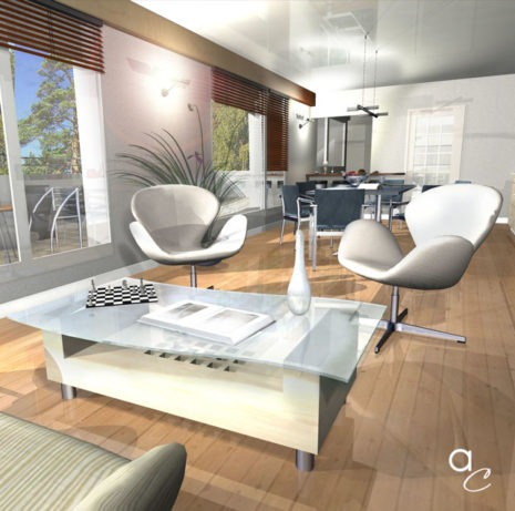 Scène 3D_Thème : «Salon» (Modèle Archicad + Render Artlantis)