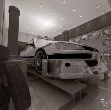 Scène 3D_Thème : «Taxi 2» (Modèle Sketchup + Render Artlantis 2019)