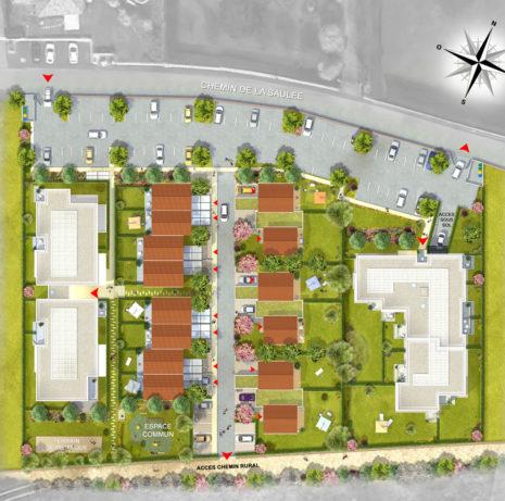 Plan de masse 2D_63800_Pérignat sur Allier